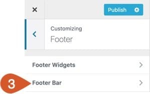 Click the Footer Bar option.