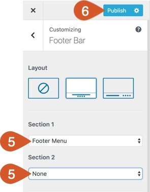 Chose which section the footer menu should go into and either leave the other section blank or choose what should go in there.