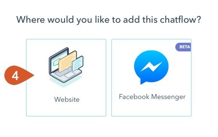 Choose to add a chatflow to a website.