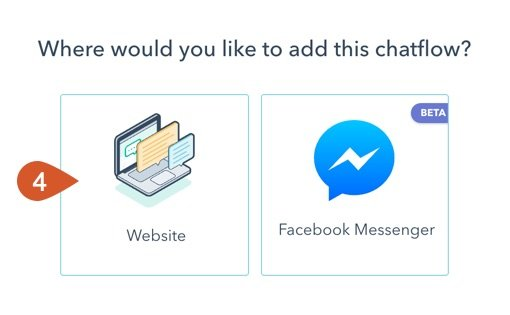 Choose to create a chatflow for your website.