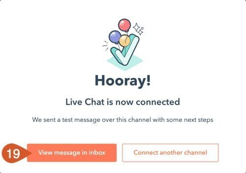 Chat successfully set up message.