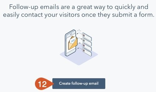 Click the create follow-up email button.
