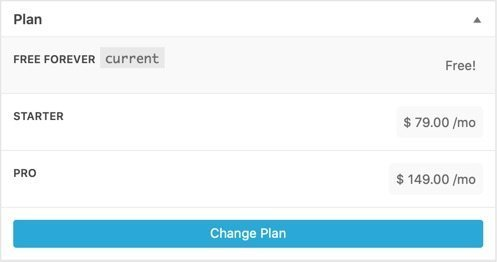 """New selected plan has """"current"""" next to it and is shaded."""