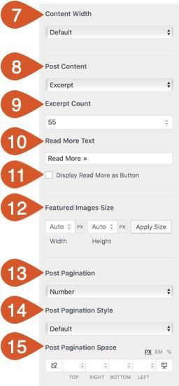 Blog/archive customizations