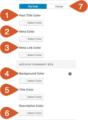 Blog/archive color and background customization