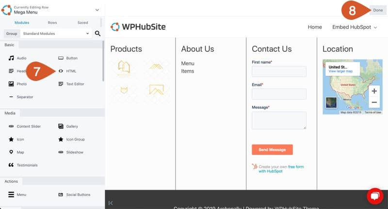 Create mega menu how you'd like it configured for your site.