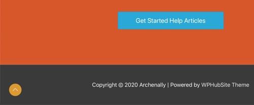 WPHubSite Theme Scroll To Top button.
