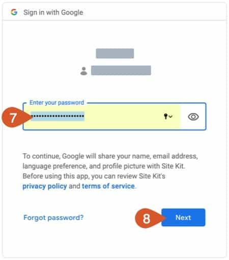 Google account password.