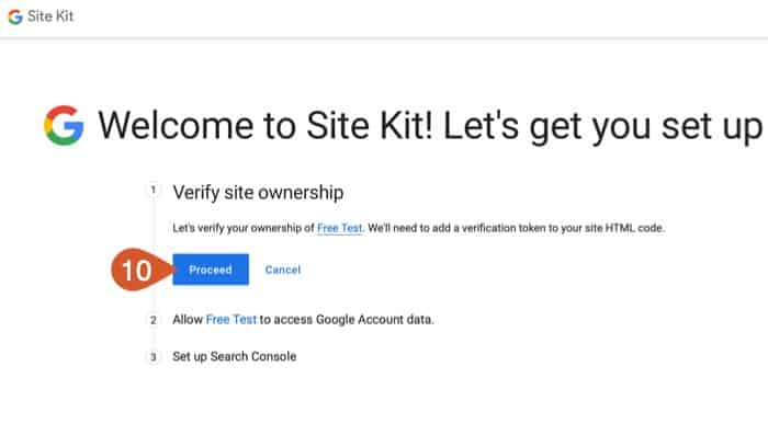 Allow Search Console to verify you own your WPHubSite website.